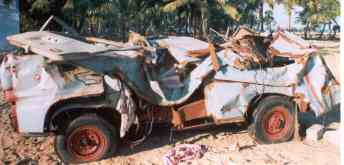 smashed vehicle